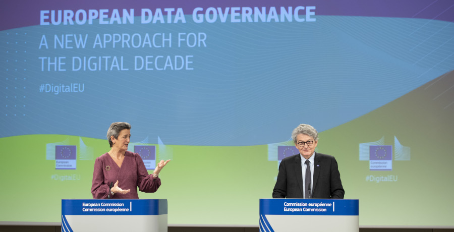 Press conference of Margrethe Vestager, Executive Vice-President of the European Commission, and Thierry Breton, European Commissioner, on the Data Governance Act