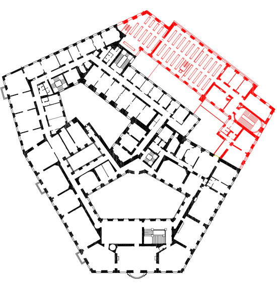 The ground plan of the Federal Chancellery 1902