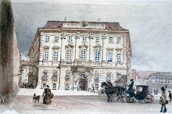 Ballhausplatz in the middle of the nineteenth century