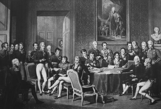 Delegates at the Congress of Vienna
