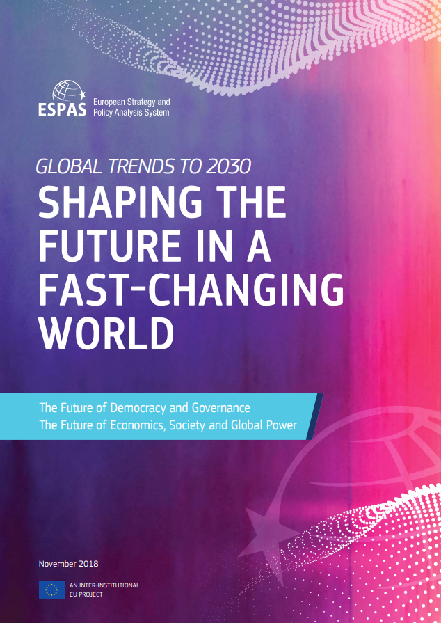 Cover der Publikation zu Global Trends to 2030: Shaping the Future in a Fast-Changing World